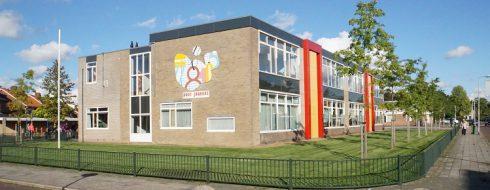 Schoolgebouw panorama